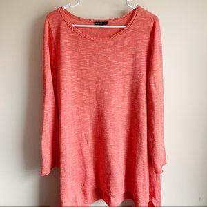 Eileen Fisher Organic Linen Cotton Tunic Blouse